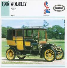 1906 WOLSELEY 24 HP Classic Car Photograph / Information Maxi Card