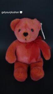 AVON 2002 YEAR OF THE TEDDY BEAR 100TH ANNIVERSARY PINK PLUSH BEAR
