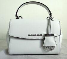 Michael Kors Ava Extra Small Optic White Saffiano Leather Crossbody Bag