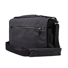 Tenba Cooper 15 DSLR Messenger Bag Luxury Canvas with Leather Accents
