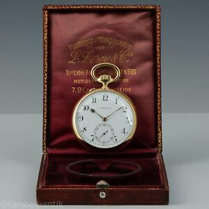 L. Leroy & Cie, Paris ca. 1900 Obsavatoriums Chronometer, 18k gold Original Box