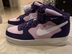 Nike Air Force 1 AF1 07 Mid Purple Sample CI1119 500 Unreleased Size 14