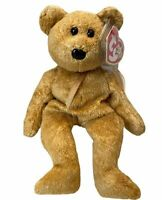 TY Beanie Baby -Cashew the Bear -Pristine with Mint Tags -Retired 2000 Free Ship
