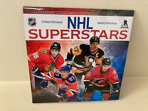 NHL SUPERSTARS CALENDAR 2018 BILINGUAL