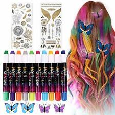 GESSO PER CAPELLI regalo, 10 colori Non tossico facilmente lavabili Tintura per capelli colorati, capelli