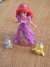 Polly Pocket Disney Princess Lot MagiClip Dress Little Mermaid Ariel A78
