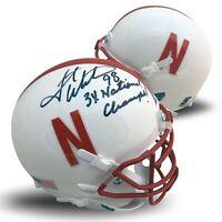Grant Wistrom Autographed Nebraska White Football Mini Helmet 3 X CHAMPS JSA COA