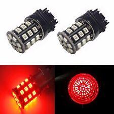 JDM ASTAR 2x33-SMD Red 3157 3156 AX-2835 12V LED Car Brake Tail Stop Light Bulbs