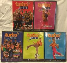 9 Turbo Jam workouts on 5 DVDs lot 3T Fast Blaster Punch Kick Cardio Party