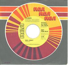 HARRY NILSSON  Sail Away  rare promo 45 from 1976