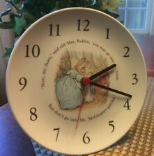 Wedgwood Peter Rabbit Wall Clock For Children's Room Made In England