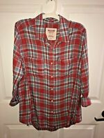 Mossimo Supply Co - Women's Red Flannel Shirt - Boyfriend Fit - FREE SHIPPING!