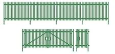 WILLS SSM316 1:76 OO SCALE Modern Palisade Fencing and Gates