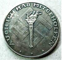 WW2 GERMAN COMMEMORATIVE COLLECTORS REICHSMARK / COIN