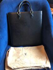 LOUIS VUITTON Sac Plat Hand Bag Epi Leather Noir Black M59082 MI0969 with LV Bag