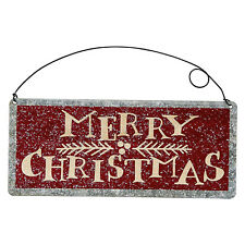 Primitives by Kathy Tin Sign Merry Christmas (Red) Metal Rustic Decor Ornament