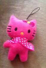 Hello Kitty Hot Pink Mobile Charm Plush Plushies  Squishy Squishies Keyring