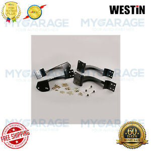 Westin For 08-17 Enclave/09-16 Traverse Oval Step Mounting Brackets 22-1795