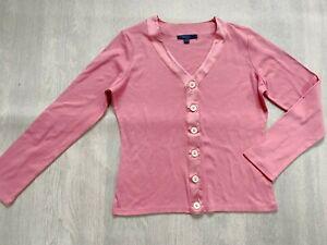 BODEN cotton cotton  cardigan silk trim size 12-14  NEW