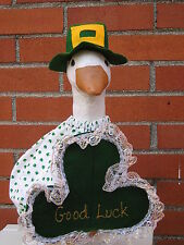 """Goose geese 17"""" Medium clothes St. Patricks clover outfit #771"""