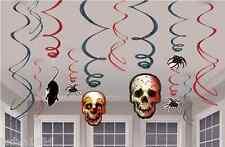 HALLOWEEN CREEPY CARNIVAL SWIRLS SKULLS SPIDERS RATS CLOWN PARTY DECORATIONS