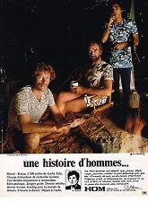 PUBLICITE ADVERTISING   1972    HOM   sous vetements maillots de bain