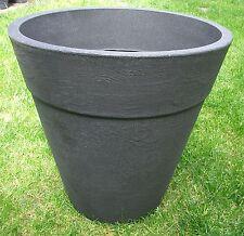 Pflanzkübel Blumenkübel 50cm Kunststoff (PE)  Anthrazit  / konisch