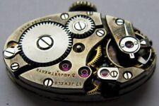 vintage Swiss oval Watch Movement 17 jewels adj.