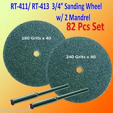 """82 180 / 240 Grits 3/4""""  Sanding Mandrel Disc Rotary Tool for Dremel 411 413 402"""