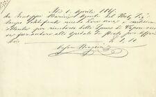Pistoia Rimborso Spese di Treno a Vapore 1865
