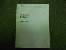 1994 VW Technical Bulletins ALL MODELS Service Shop Manual FACTORY OEM BOOK 94