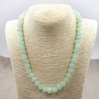 12mm Light Green 100% Natural A JADE JADEITE Round Beads Necklace 18'' AAA+