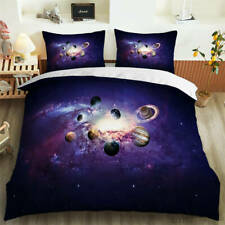 Eight Planets Converge 3D Blockout Photo Print Curtain Fabric Curtains Window
