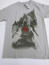 Assassins Creed III Video Game Silver Men's Graphic T- Shirt Authentic Medium