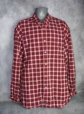 Men's Structure Red Plaid Flannel XL Long Sleeve Button Front Shirt