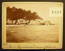 Foto c 1900 Isola di Noirmoutier La grotte Saint-Philibert, Fotografia antica