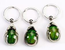 12PC fashion insect jewelry  huge green beetle glowing key-chains FF2002