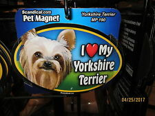 I Love My Yorkshire Terrier 6 inch oval magnet for car or anything metal New