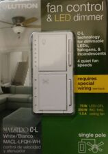 Lutron Maestro Fan Control and Light Dimmer for dimmable LEDs, Incandescent, Hol