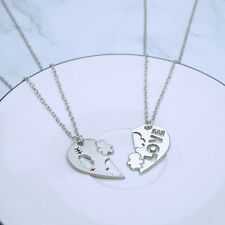 US Seller-His and Hers I Love You Heart Men Women Couple Pendant Lovers Necklace
