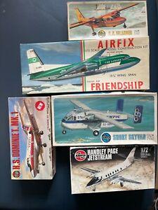 1/72 Scale Airfix  B.N Islander Skyvan Fokker F-27 Friendship Job lot x 5