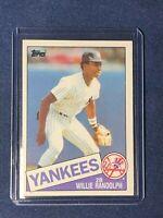 1985 Topps WILLIE RANDOLPH Baseball Card #765 New York Yankees MINT in toploader