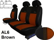 VW CRAFTER 2006 - 2016 ARTIFICIAL LEATHER & ALICANTE TAILORED FRONT SEAT COVERS
