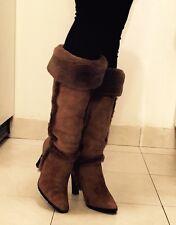 ESCADA Shearling Camel Color Winter Boots 36