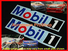 "2x 8.5"" 21.6cm MOBIL 1 decal sticker ONE motor oil NASCAR F1 DTM BTCC lubricant"