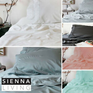 SIENNA LIVING Bamboo Cotton 400TC Thread Count Sheet Set SPLIT KING Long Single