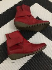 Donna Fly London Pelle Rossa Misura UK 35 (2.5)