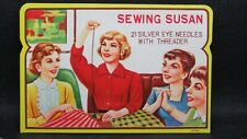 Original Sewing Susan - Silver Eyes Needles with Threader