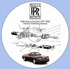 Rolls Royce Corniche 1977-1980  Factory Workshop Manual