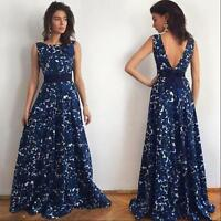 Ladies Women Floral Long Formal Prom Dress Party Ball Gown Evening Maxi Dresses